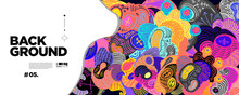 Colorful Abstract Batik Banner...