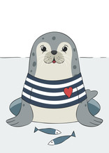 Seal Cute Sea Lion, Animal In ...