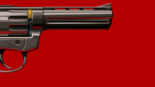 New Classic Revolver On Red