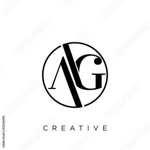 ag logo for company Canvas Print