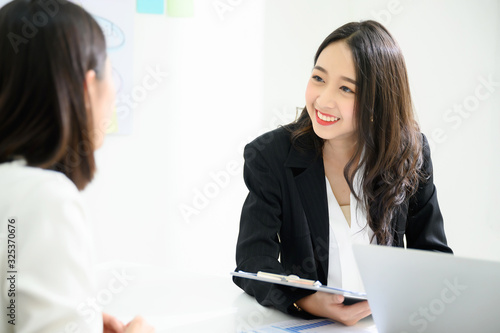 Photo Job interview, We are hiring, Human resource and recruitment concept
