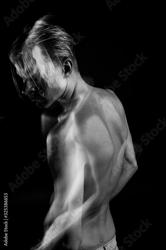 Tablou Canvas Back man black and white