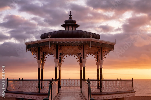 bandstand in Brighton at sunset Canvas Print