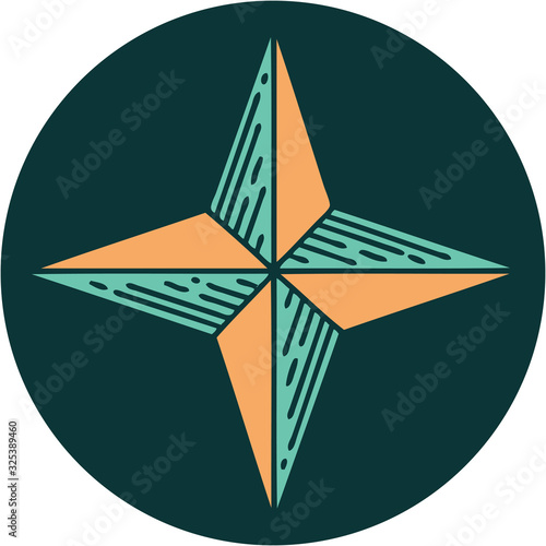 Fotomural tattoo style icon of a star