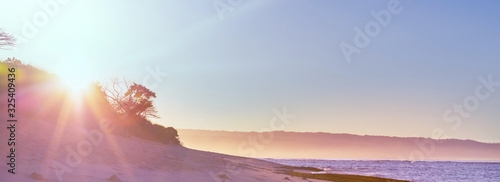 Obraz Hawaiian beach at sunrise - fototapety do salonu