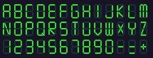 Digital Display Font. Alarm Cl...