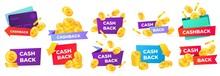 Cashback Badges. Money Return ...
