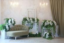 Interior With Decorative Flowe...
