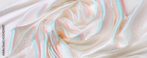 Abstract White and pink silk fabric background. Wallpaper Mural