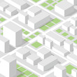 Isometric city map concept