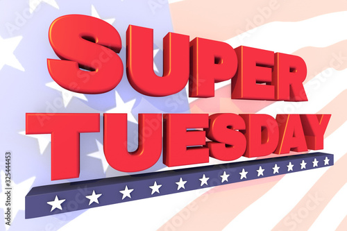 Valokuva Super Tuesday header or banner for United States primary day
