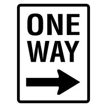 One Way Road Sign Street Signa...