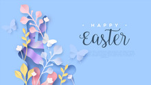 Happy Easter Web Template Pape...