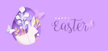 Happy Easter Papercut Flower E...