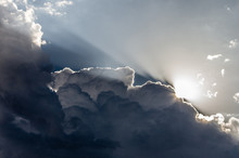 Clouds And Light. Sunlight Bac...