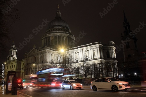 St Paul's Cathedral, London, by night. Wallpaper Mural