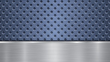 Background Of Blue Perforated ...