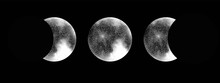 Moon Phases Isolated Vector On...