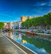Historic Old Town Of Narbonne,...