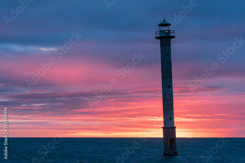Photo Skew lighthouse in the Baltic Sea