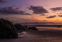 A Colorful Beach Sunset In Pan...
