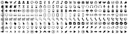 Obraz WEB, device, internet set icons – stock vector - fototapety do salonu