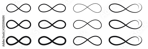 Fotografia Hand drawn infinity symbol, sign doodle icon.