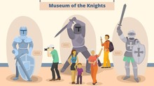 Museum Of Knights Vector Illus...