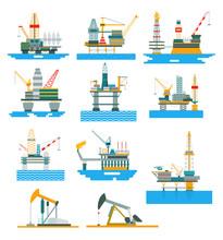 Oil Rigs Fuel Industry Platfor...
