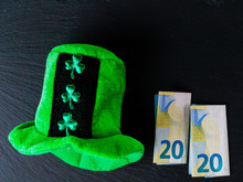 Green Hat With Shamrock Two Eu...