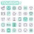 Trendy line icons - Tourism icons collection, set 2