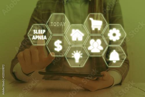 Text sign showing Sleep Apnea Canvas Print