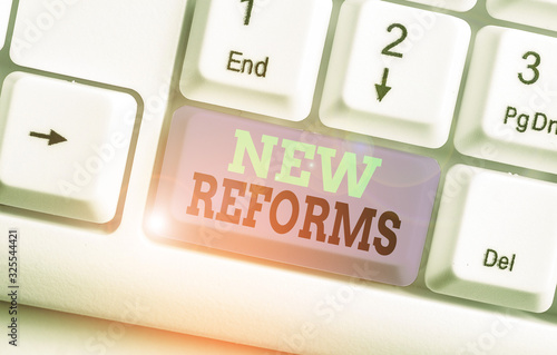 Photo Conceptual hand writing showing New Reforms