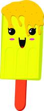 Vector Illustration Banana Ice...