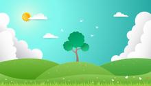 Spring Background. Nature Land...