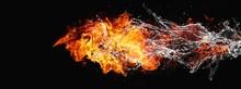 絡み合う抽象的な炎と...