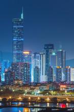 Skyline Of Shenzhen City, Chin...