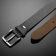 Fashionable Black Leather Men's Belt On Black Background