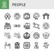 people simple icons set