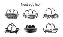 Nest Egg Icon Template Black C...
