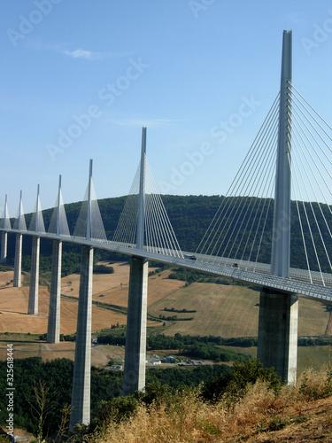 Le pont de Millau, France Canvas Print