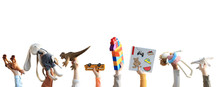 Children Holding Toys, Concept...
