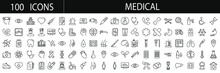 Medical  Icon Set. Linear Icon...