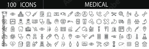 Photo Medical  icon set