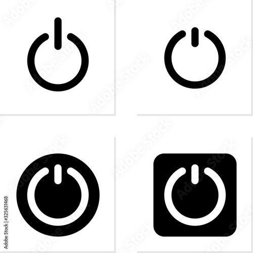 Fotografie, Obraz Power Switch Icon