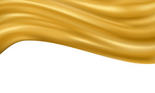 Abstract Gradients Fabric Gold Waves Sale Banner Template Background.