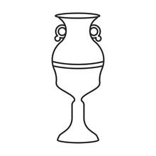 Ceramic Vase Vector Icon.Outline Vector Icon Isolated On White Background Ceramic Vase .