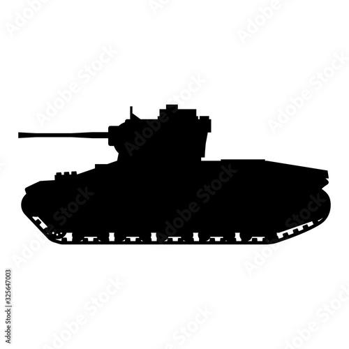Tank Infantry Mk.II Matilda World War 2 Britain tank Canvas Print