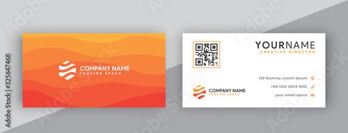 Cuadros en Lienzo business cards design, orange business card template