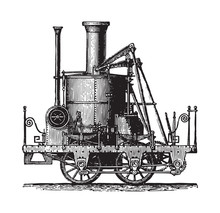 Old Locomotive - Atlantic (183...